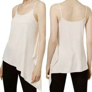 Bar III Tops - Bar III Pink Modal Asymmetrical Tank Top XS